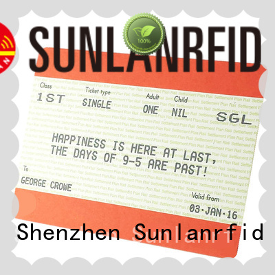 Sunlanrfid mifare ticket restaurant meal card registration supplier for daily life