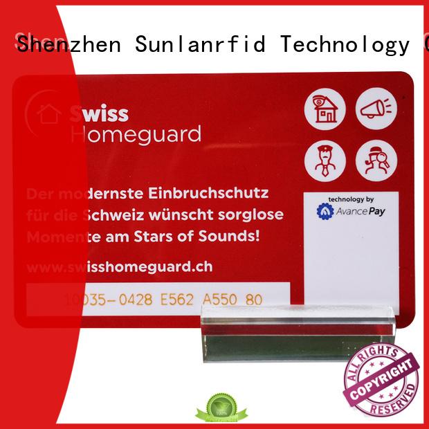 Sunlanrfid smart reloadable prepaid credit cards ultralight factory