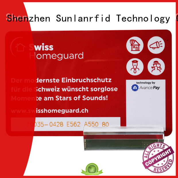 Sunlanrfid smart reloadable prepaid credit cards ultralight factory