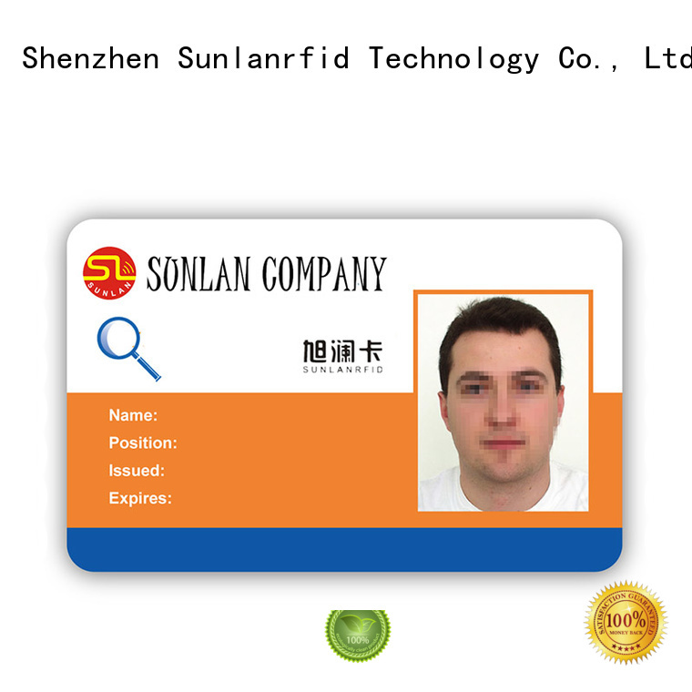Sunlanrfid id free id card template supplier for shopping Center