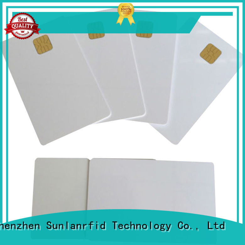 Sunlanrfid ic contact chip card manufacturer for time and attendance