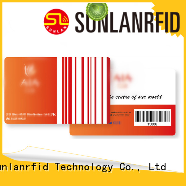 pvc chip card Sunlanrfid Brand rfid loyalty card manufacture