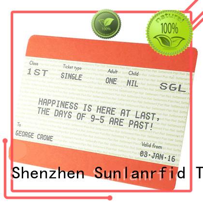 Sunlanrfid slil edenred ticket elettronici manufacturer for daily life
