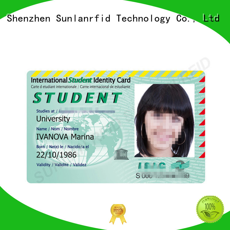 Sunlanrfid ntag215 student id card series for transportation