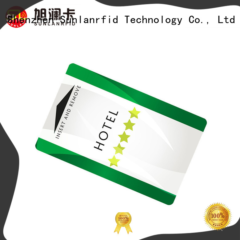Sunlanrfid ultralight hotel key card plus for opening door
