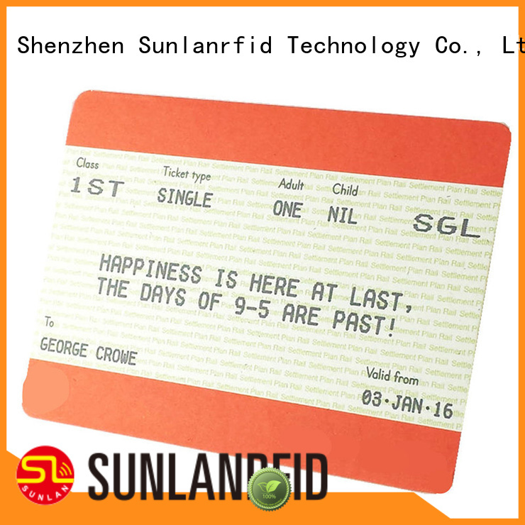 Sunlanrfid ticket smart card wholesale for transportation