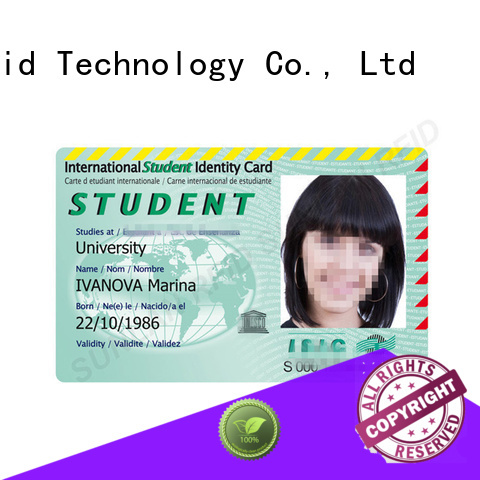 Sunlanrfid card student id card manufacturer for time and attendance
