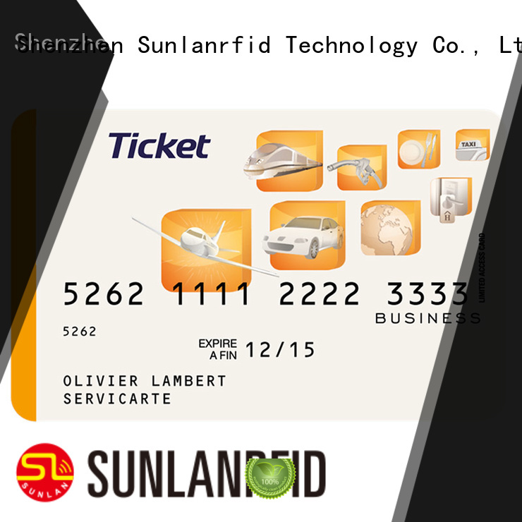 PVC or PET Ultra Thin Ticket Card with ICODE SLI-L Chip