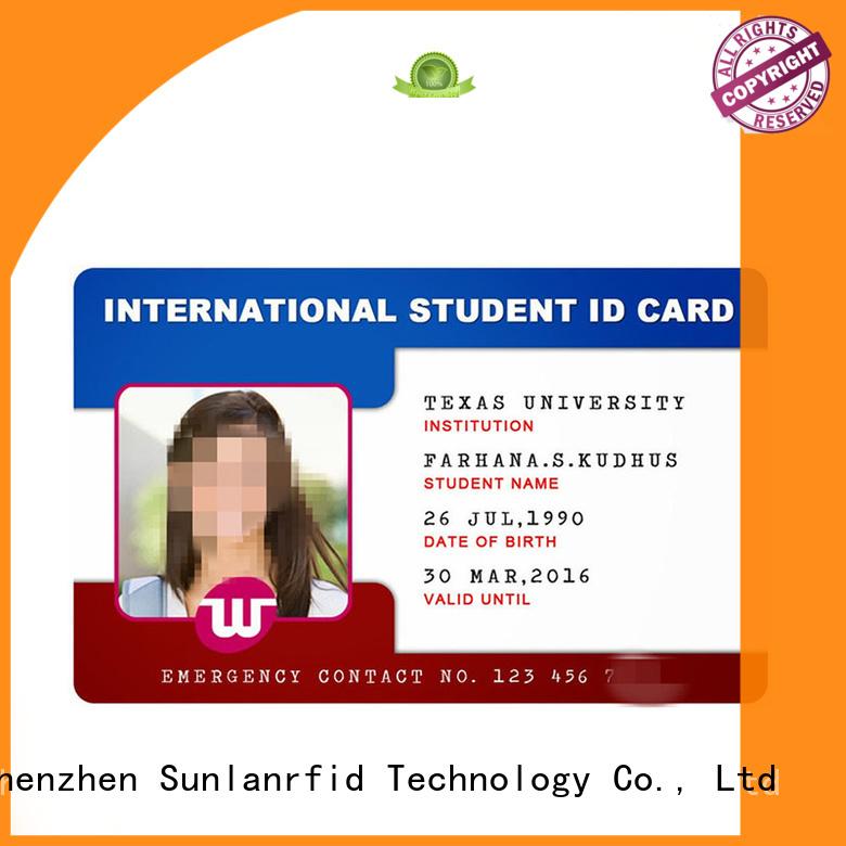 Hot rfid student id card chip Sunlanrfid Brand