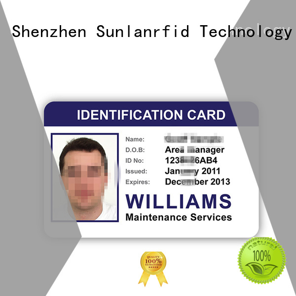 Sunlanrfid Brand chip icode student school id card manufacture