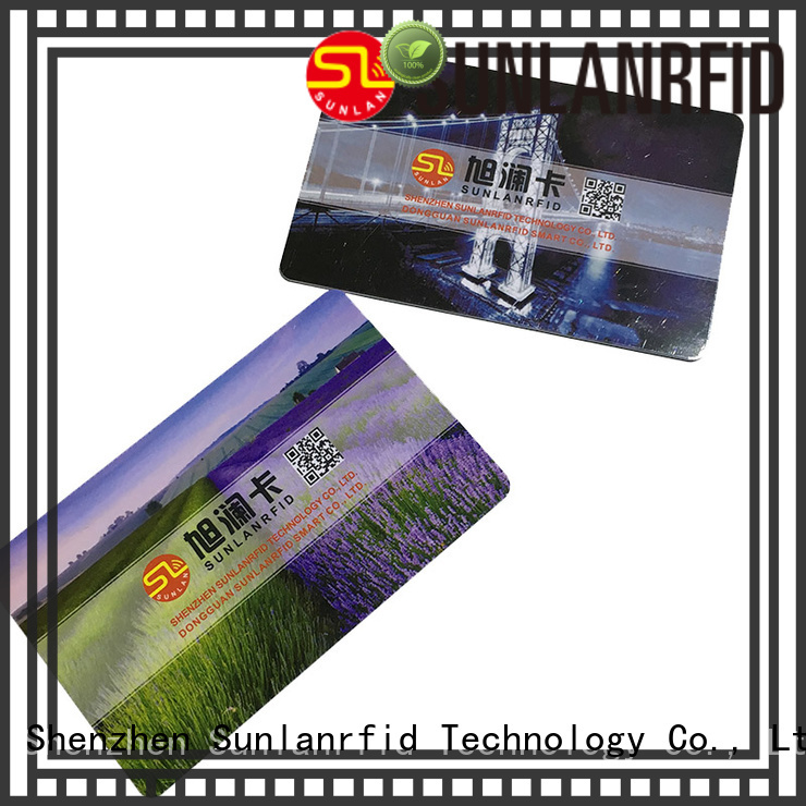Sunlanrfid printing magnetic card supplier for time and attendance