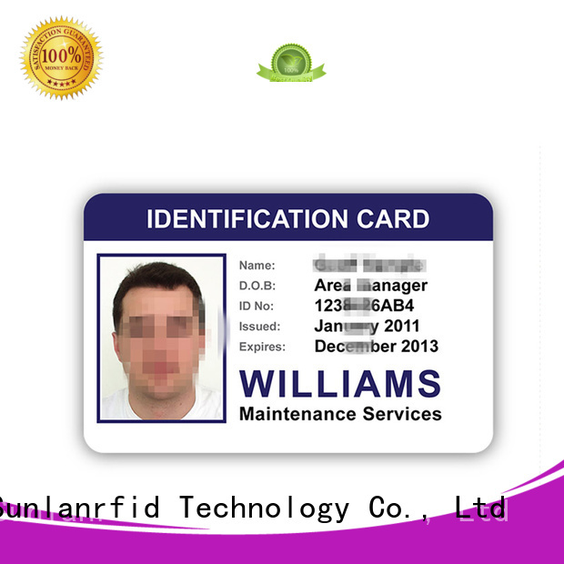 Sunlanrfid student id card template chip for daily life