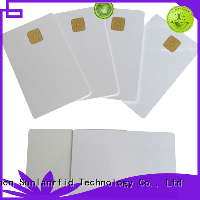 card contact smart Sunlanrfid Brand contact ic card manufacture