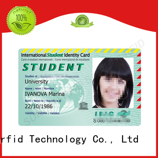 Sunlanrfid id identity card design price for time and attendance