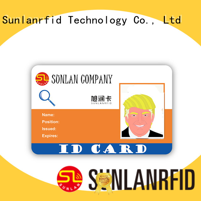 Sunlanrfid ultralight student id card template series for daily life