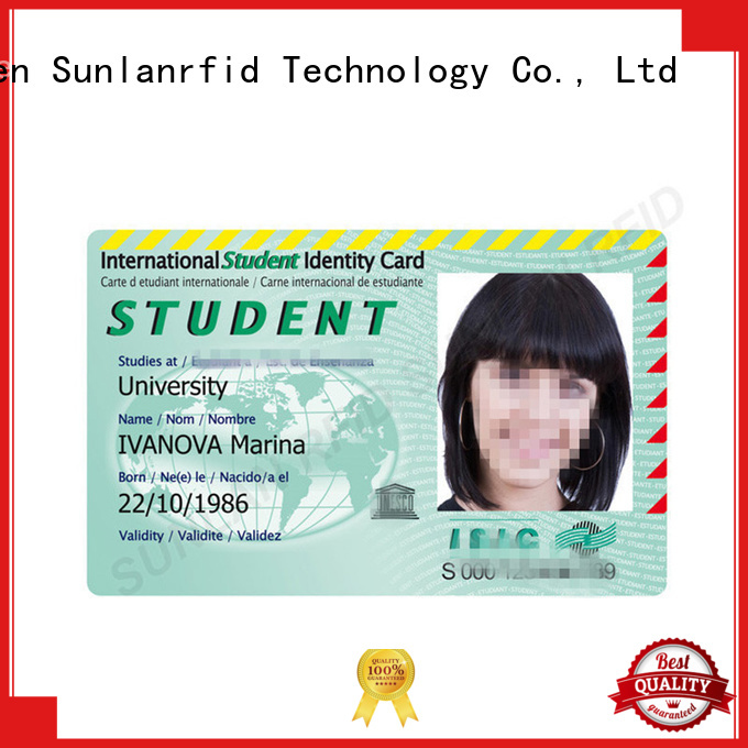 Sunlanrfid ntag215 valid isic card series for daily life