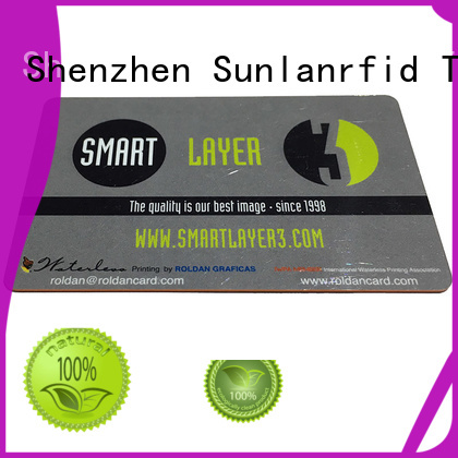 Sunlanrfid online magnetic card manufacturer for daily life