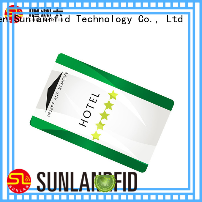 Sunlanrfid classic magnetic door card Suppliers for hotel