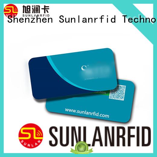 Sunlanrfid hotel key card printing supplier for opening door