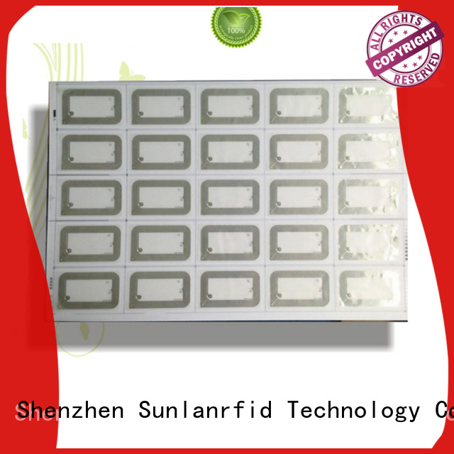 Sunlanrfid prelam UHF Inlay Prelam series for time and attendance