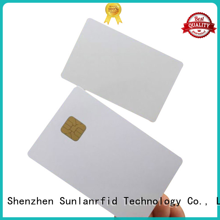 Sunlanrfid online contact chip card series for shopping Center