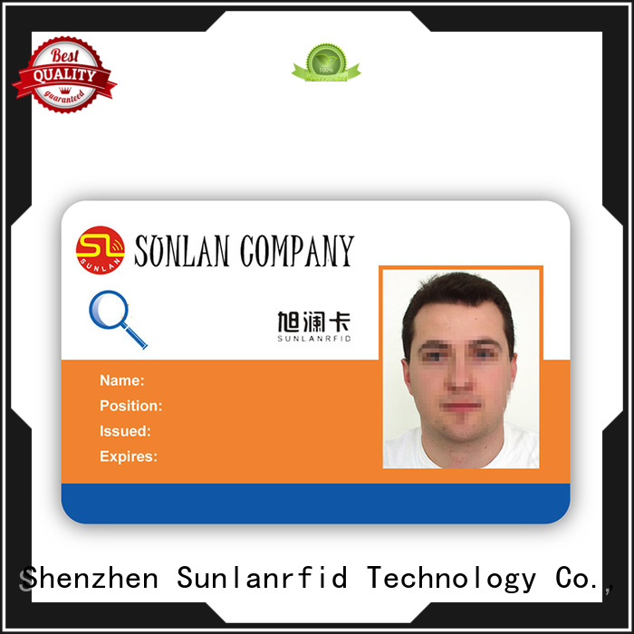 Sunlanrfid mifare identity card format price for transportation