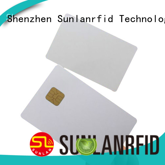 Sunlanrfid smart contact ic card card for shopping Center