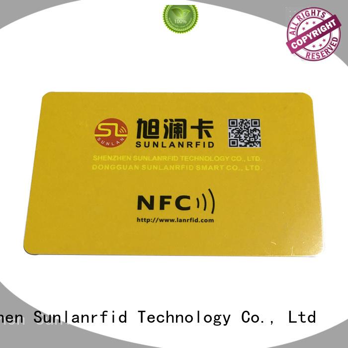 Sunlanrfid quality nfc pvc card card factory
