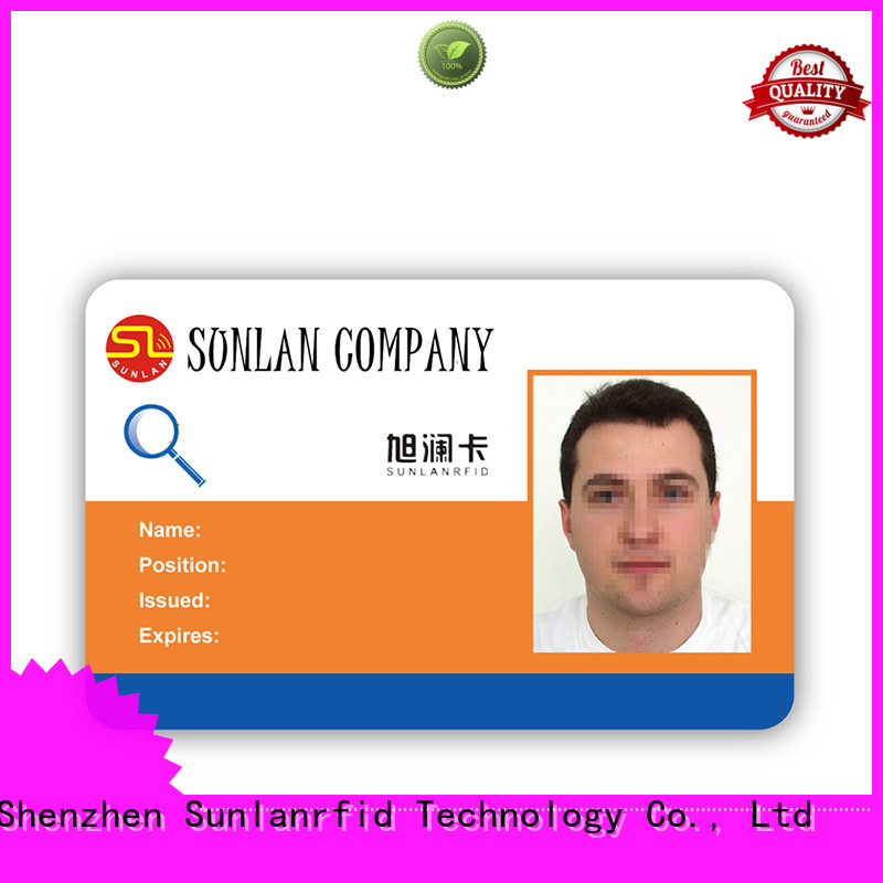 Sunlanrfid card id card template wholesale for transportation