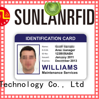 Sunlanrfid durable id card template price for daily life