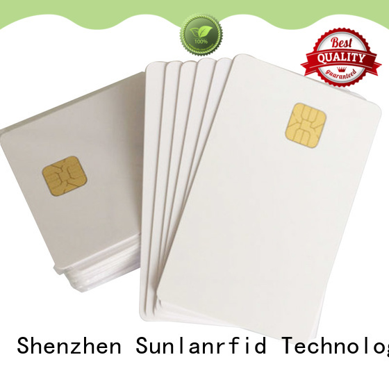 Sunlanrfid durable contact card card for transportation