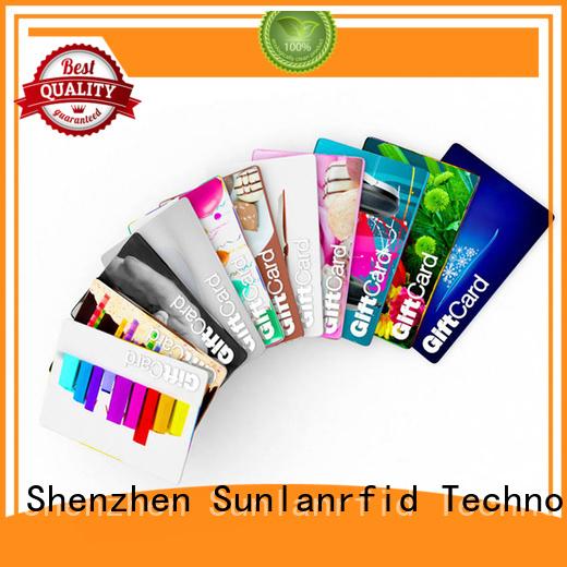 Sunlanrfid online loyalty card manufacturer for transportation