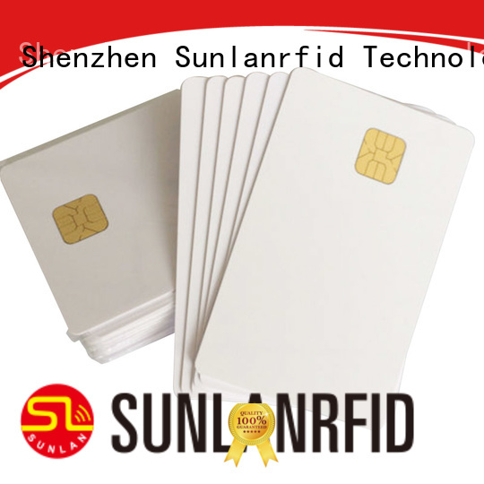 Sunlanrfid smart contact chip card manufacturer for transportation
