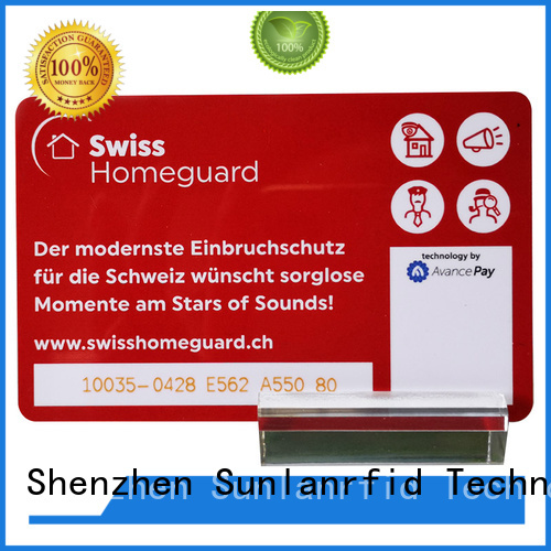 Sunlanrfid Top prepaid bank cards manufacturer for shopping Center