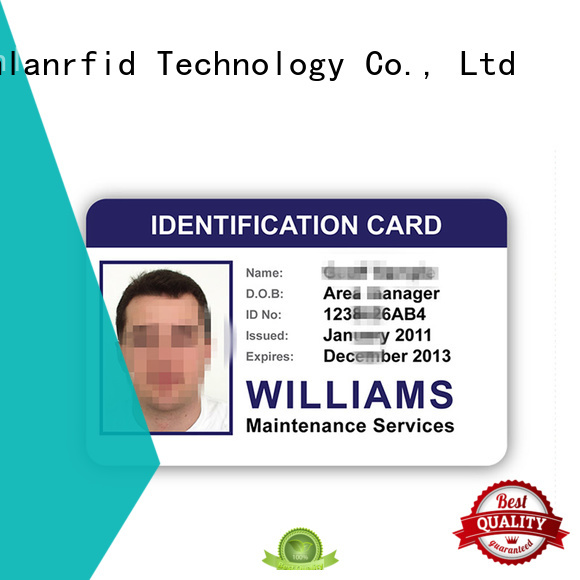 Sunlanrfid id identity card format wholesale for transportation