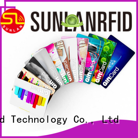 Sunlanrfid card loyalty card supplier for shopping Center