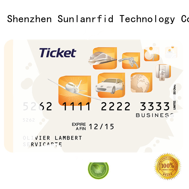 Sunlanrfid mifare smartcard tickets supplier for time and attendance