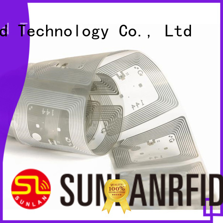 Sunlanrfid custom inlay label manufacturer for daily life