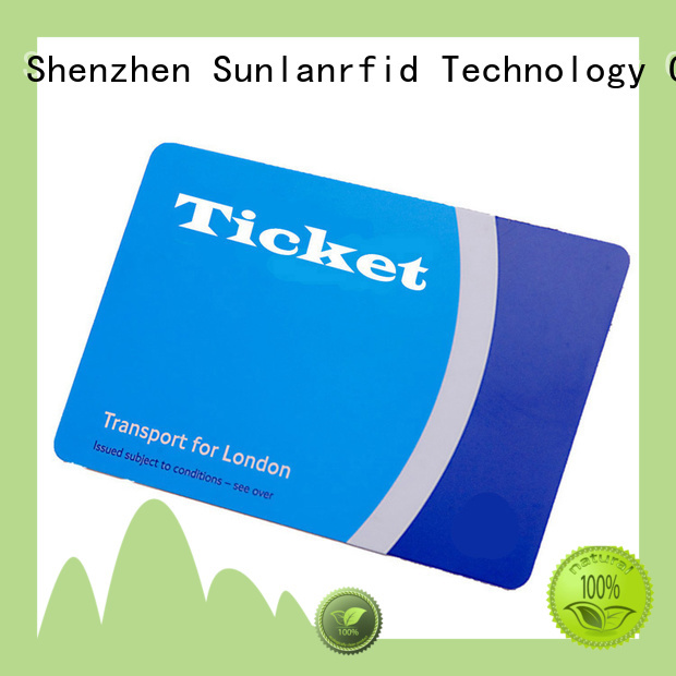 Sunlanrfid online train smart card wholesale for shopping Center