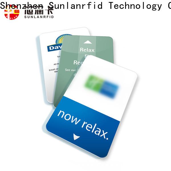 Sunlanrfid online door lock key card manufacturer for hotel