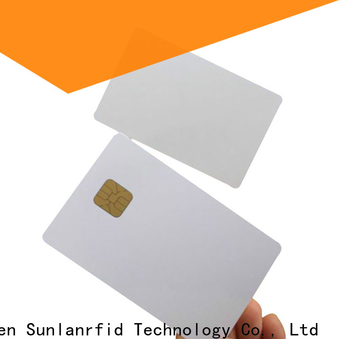 Sunlanrfid chip contact ic card manufacturer for daily life