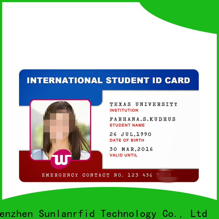 Sunlanrfid High-quality temporary id card supplier for time and attendance