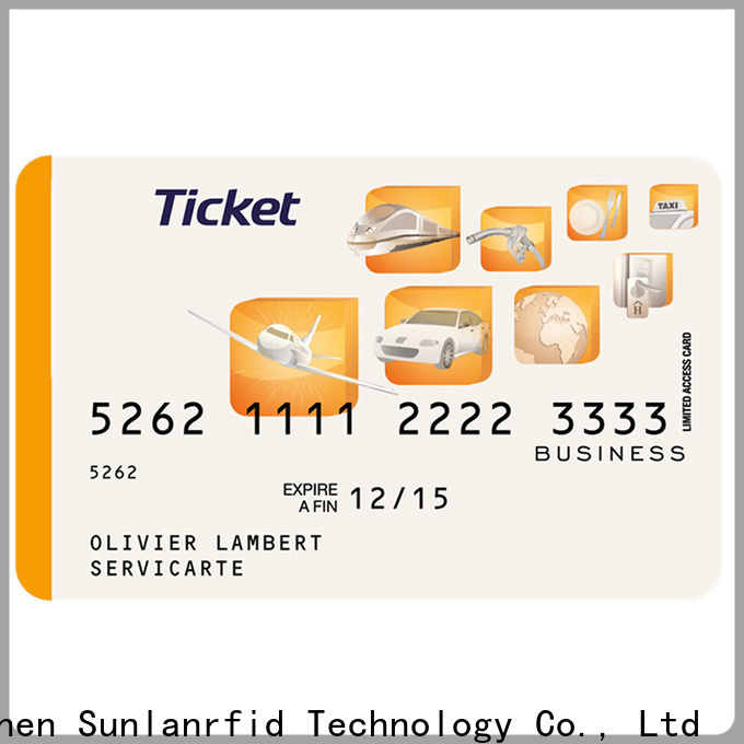 Sunlanrfid slix smart ticket company for time and attendance