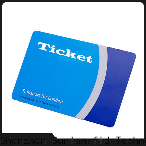 Sunlanrfid thin ticket smart card Suppliers for parking