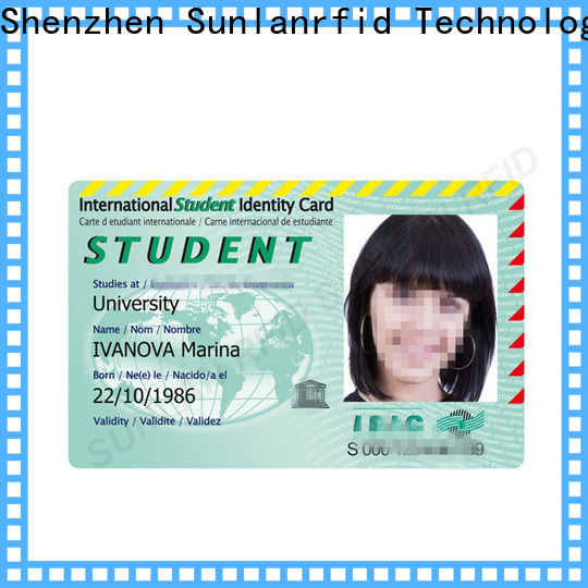 Sunlanrfid card student identification card factory for shopping Center