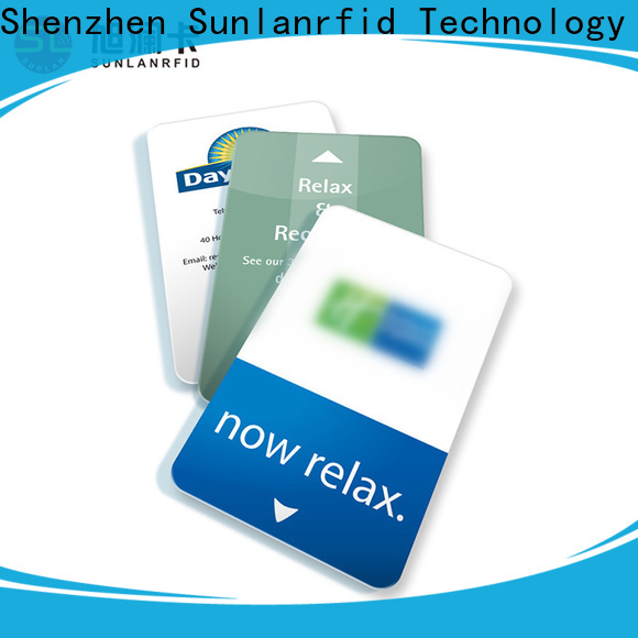 Sunlanrfid plus key cards for hotel rooms production for daily life