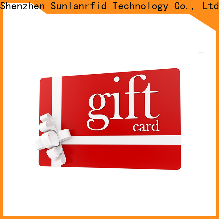 Sunlanrfid ultralight coffee shop reward card manufacturer for time and attendance