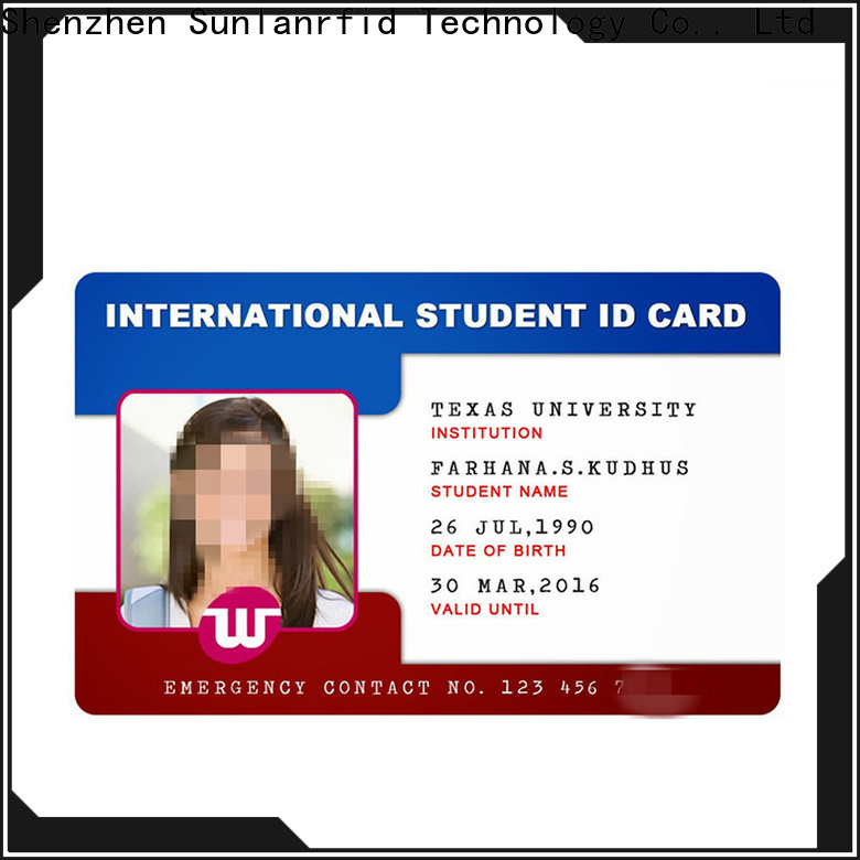 Sunlanrfid New student id cards for school for business for access control