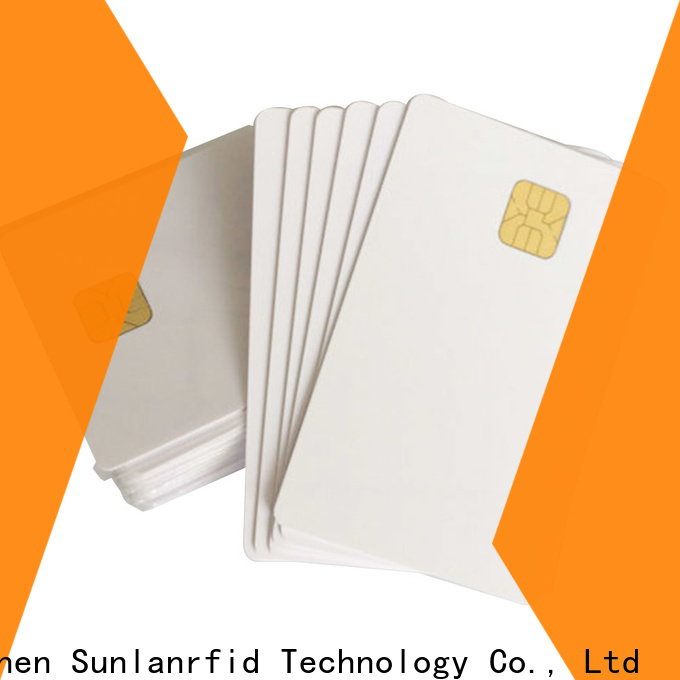 Sunlanrfid quality smart card in Supply for shopping Center