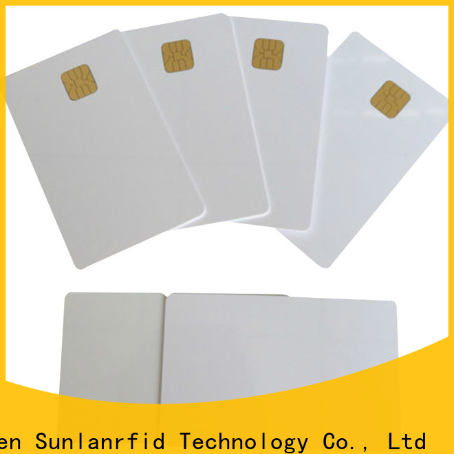 Sunlanrfid id cards with smart chips production for time and attendance